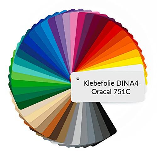 PrintAttack P083 | Plotterfolien DIN A4 Oracal 751C High Performance Perfekt zum Plotten Schneideplotter Vinyl Folie Klebefolien selbstklebend je 21x29,7cm (10x DIN A4, 070 Schwarz Glanz)