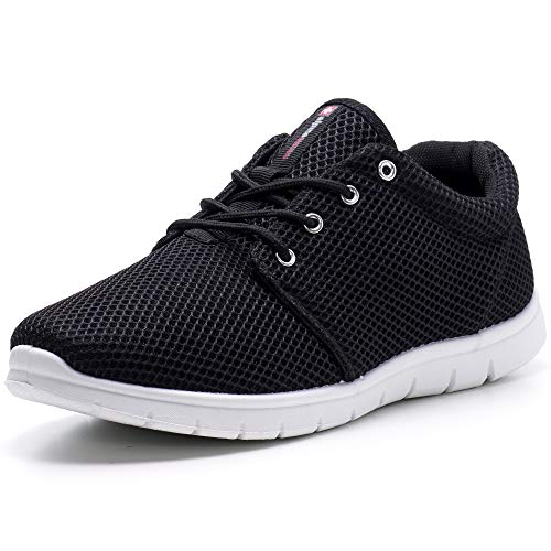 Alpine Swiss Kilian Fashion Sneakers Lightweight Trainers Lace Up Casual Shoes, 11 D(M) US, Black