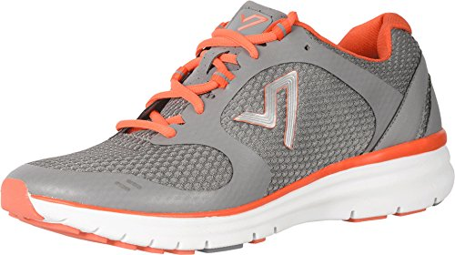 Vionic Ngage 1.0 - Men's Lace-up Comfort Sneaker Grey/Orange - 9