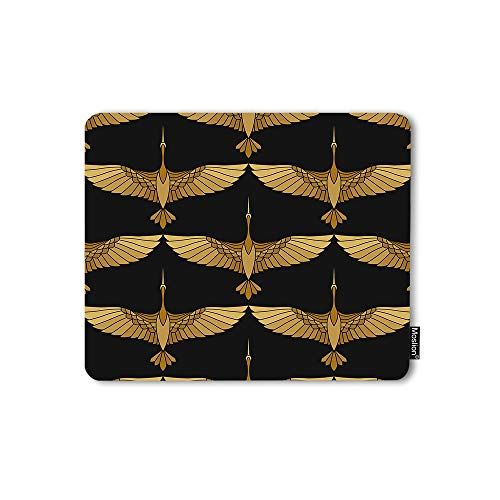 Moslion Mouse Pad Cranes Chinese Japanese Asian Bird Art Culture Tattoo Wildlife Beauty Gaming Mouse Mat Non-Slip Rubber Base Thick Mousepad for Laptop Computer PC 9.5x7.9 Inch