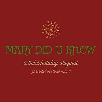 Mary Did U Know