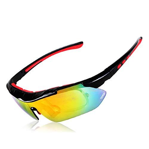 Minicocock Hombres Mujeres Protección UV for Pesca Correr Ciclismo Béisbol de conducción polarizadas Gafas de Sol Deportivas con irrompible Frame Objetivos Intercambiables (Color : A1)