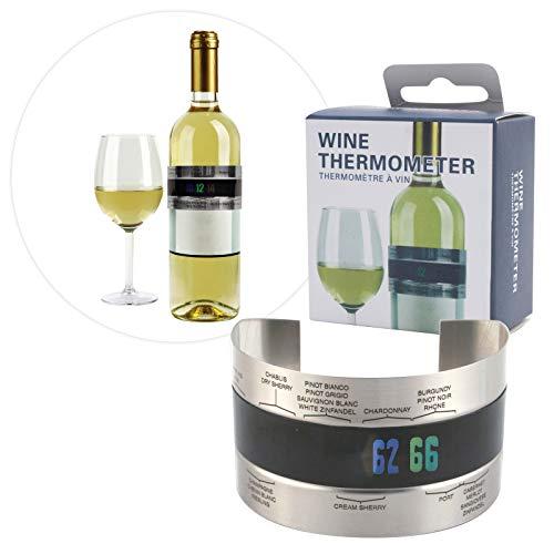 Preis am Stiel Flaschenthermometer | Wein | Barzubehör | Bar | Geschenkidee für Weinliebhaber | Rotwein | Weißwein | Sekt | Küchenzubehör | Küchenthermometer | Thermometer | Weinflasche | Küche