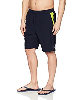 ZeroXposur Mens Fusion Athletic Gym to Swim Shorts Workout Swimsuit Trunks with Pockets Indigo 1X-Large