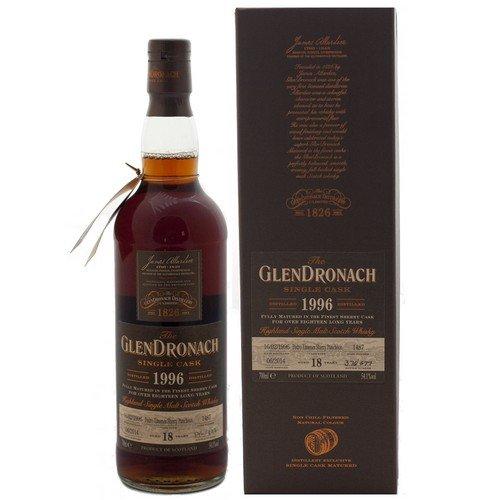 Glendronach 18 Years Old 1996 Pedro Ximenez Sherry Cask mit Geschenkverpackung Whisky (1 x 0.7 l)