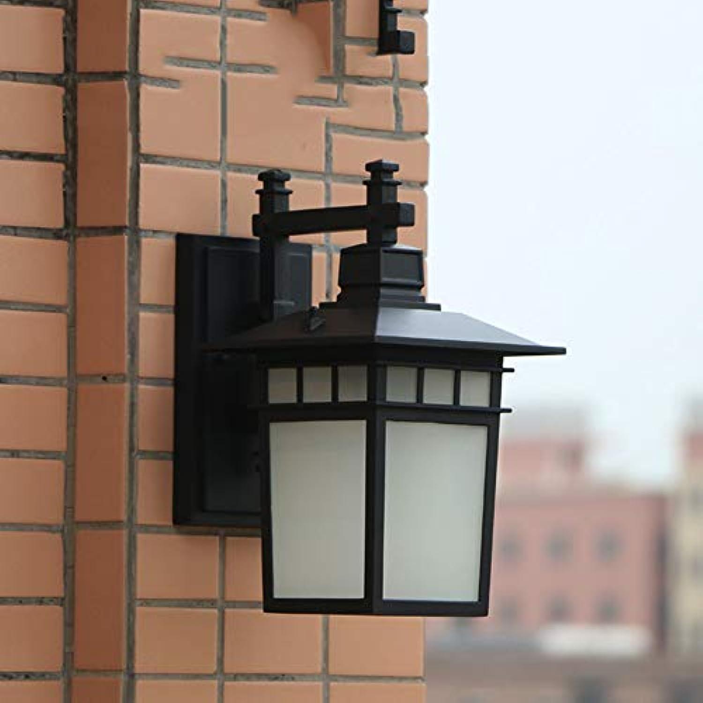 IP44 AluminiumGlas und Wandlampe E27 Wandleuchte Sandschwarz Farbe Wandlicht Retro Wandbeleuchtung für Freizeitplatz Auenwand Korridor Terrasse Clubhaus Villa Flur Garten