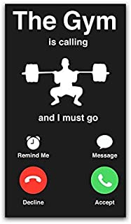 More Shiz Gym is Calling Must Go Vinyl Decal Sticker - Car Truck Van SUV Window Wall Cup Laptop - One 5.25 Inch Decal - MKS0807