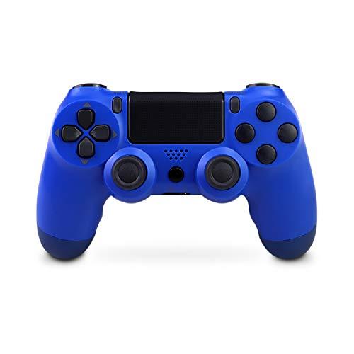 Mando Inalámbrico para PS4, Mando Inalámbrico Gamepad Doble Vibración Seis Ejes Mando Game Compatible con Playstation 4/PS4 Slim/PS4 Pro (azul)