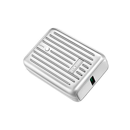 Zendure Supermini モバイルバッテリー 10000mAh クレジットカードサイズ 最軽量 【 PSE 認証済/Zen+2.0搭載 / 20WPD 搭載/低電流 モード搭載 】 タイプC デバイス & iPhone 対応, シルバー