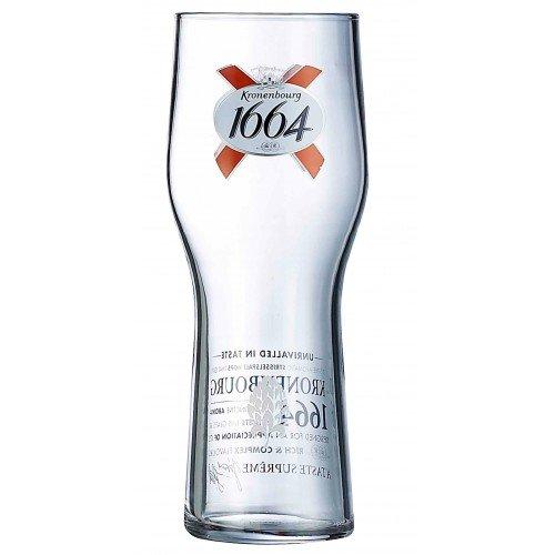 Kronenbourg 1664pinta di birra in vetro (cl) CE–Confezione da 4bicchieri