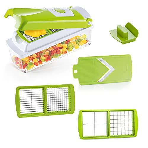 Genius Nicer Dicer Smart   6 partes   Cortador de frutas y verduras   tirar dados   robar   cepillado   cortar   incluyendo folleto de recetas