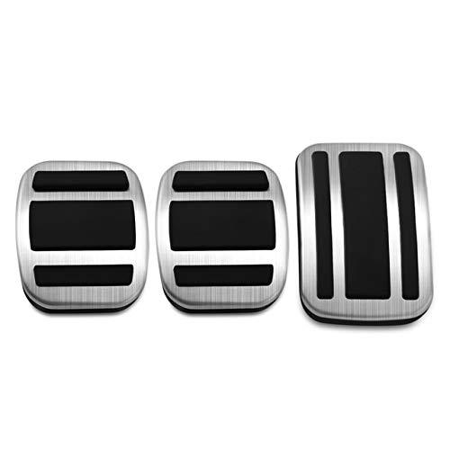 KJLTLD Pedane Styling per Auto Pedali acceleratore/Adatti per Peugeot 308 2007-2018/3008 2016-2019/408 2010-2019/4008 5008 AT MT Modello3 Pezzi MT