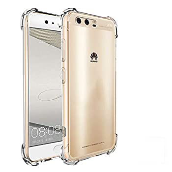 iCoverCase Compatible with Huawei P10 Plus Case Crystal Clear Soft TPU Shock Absorption Bumper Slim Thin Cover Case -Clear