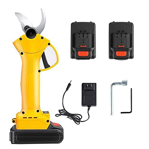 TOOLS Podadora de árboles portátil, Tijeras de podar eléctricas inalámbricas con batería de Litio, 2 baterías de Litio de 2 Ah, 6-8 Horas de Trabajo, 30 mm (1,2 Pulgadas) de diámetro de Corte