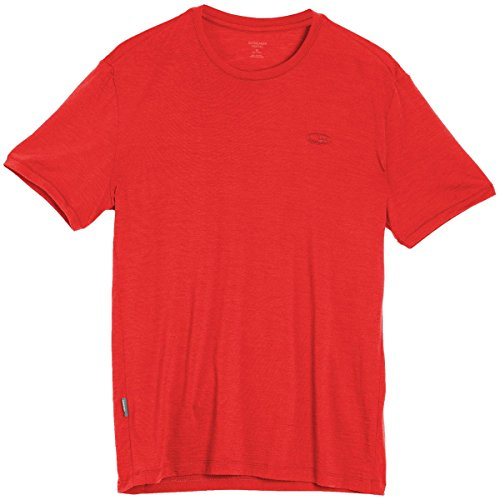Icebreaker Tech Lite T-Shirt Manches Courtes Homme, Rouge (Rocket), FR : S (Taille Fabricant : S)