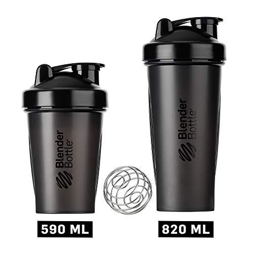 BlenderBottle Classic Shaker cup / Diet Shaker / Protein Shaker with Blenderball / 590 ml - black