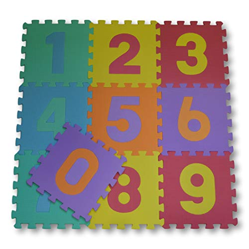 esteras de 30x30 cm meiqicool Alfombra Puzzle para Ni/ños Bebe Infantil 18 Piezas en Espuma EVA a/ños Alfombra puzle Goma Espuma Blanco Marr/ón 0106