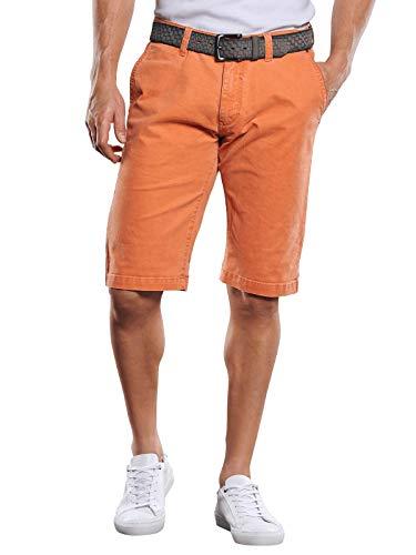 engbers Herren Doppelt gefärbte Shorts mit komfortablem Elasthananteil, 29827, Orange in Größe 54