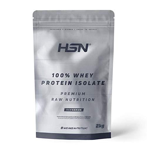 Proteína Aislada de Suero HSN | 100% Whey Protein Isolate | Proteína Sin Sabor en Polvo | Suplemento para Ganar Masa Muscular | Rica en BCAAs y Glutamina | Apto Vegetariano, 2Kg