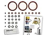 Dichtungen/Wartungsset (XL) für DeLonghi ESAM Thermoblock & Brüheinheit | O-Ringe | TOP Qualität (EPDM & VMQ) | Dichtung
