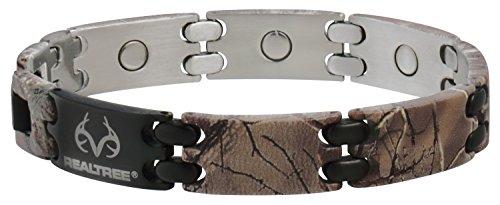 Sabona Real Tree Camo Black Sport Magnetic Bracelet, Medium