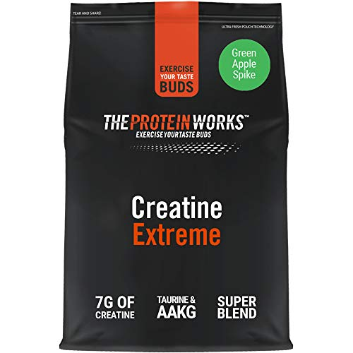 THE PROTEIN WORKS Creatine Extreme Powder | Creatine Formula | Premium Grade Supplement For Lean Muscle Growth | With Beta Analine | Green Apple Spike | 750 g