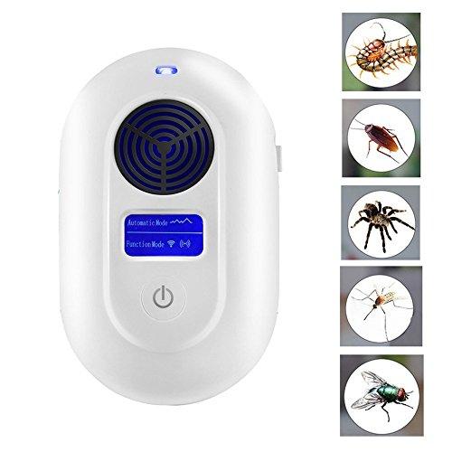 Paracity Ultrasons Répulsif 8 Waves synthétique Pest Insect Control Electronic Plug en Répulsif pour insectes, filtres Raw, mouches, fourmis, araignées, souris, insectes, non toxique, écologique, les humains et les animaux protégés Style A