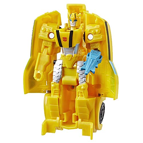 Transformers Hasbro E3642EZ2 Bumblebee Cyberverse Adventures Action Attackers 1-Step Bumblebee Figur, Sting Shot Action Attacke, 10,5 cm