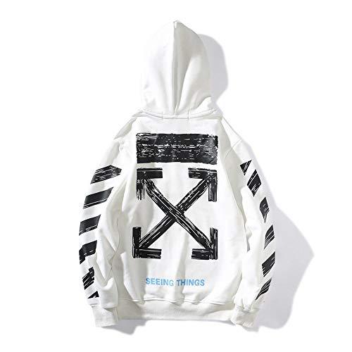 Preisvergleich Produktbild T.M.R.W. Clothing Off Hoodie Pfeil Graffiti Pullover Paar Cotton Sweatshirt White-S