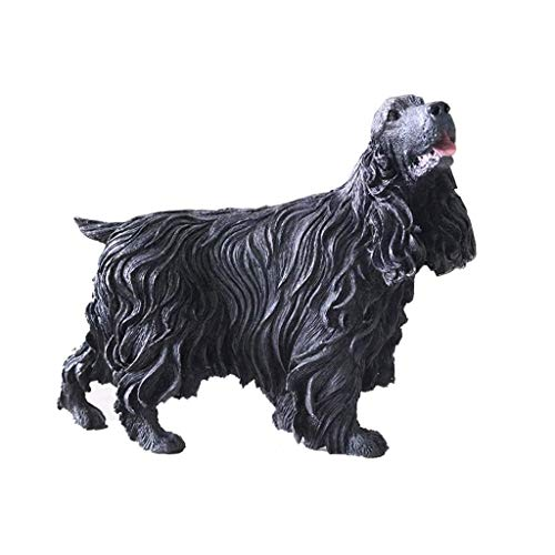 Cocker Spaniel simulation dog model, resin dog statue model Beagle decoration office living room decoration decoration H12CM for Home Garden