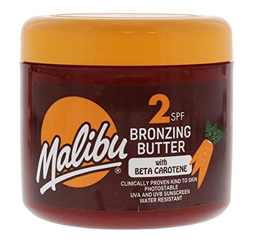 Malibu Fast Tanning Körperbutter mit Beta-Carotin, wasserfest, LSF 2, 300 ml