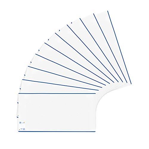 HERMA 7280 Buchumschläge HERMÄX Classic 28 x 54 cm, Buchhüllen aus robuster Folie mit Beschriftungsetikett, 10er Set Buchschoner für Schulbücher, transparent