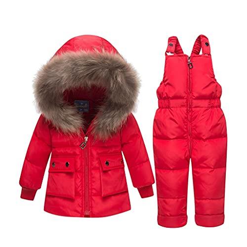 Traje de esquí infantil abrigos de invierno ropa exterior de moda con capucha con capucha parkas infantiles mono de bebé de piel de bebé espesar en el desgaste de la nieve en el equipo de ropa de los