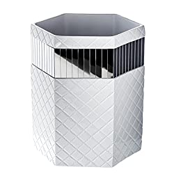 Decorative Trash can in Silver Under $50