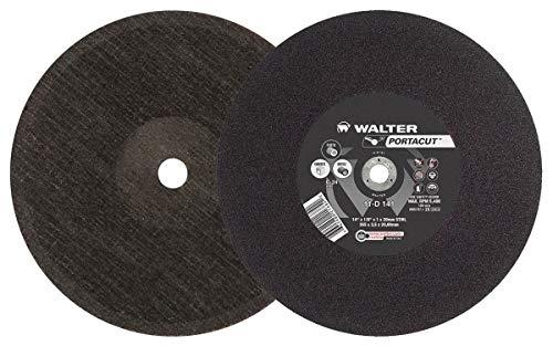 Walter Portacut High Speed Cutoff Wheel, Type 1, Round Hole, Silicon Carbide, 14