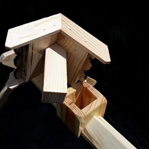 Vogelhaus Schreinerarbeit Futterhaus Vogelhäuschen –Wetterschutz– K Block Schwarz Holz Vogelhäuser - 4
