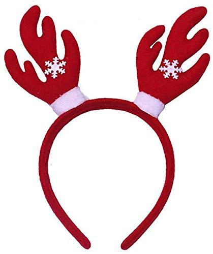 YUY Diadema navidea Cuerno de Reno rbol de Navidad Adornos Diademas de Disfraz para Fiestas navideas 2-diecisis