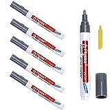 Atuful 6 Stück Fugenstift Fugenmörtel Fliesen Stift Fugen Reparatur Marker mit Ersatzspitze für Fliesen Wand (Hellgrau)