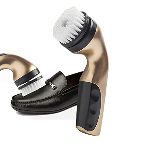 NJBYX 1 Set Electric Shoe Brush Household Polisher Portable Hand-Held Auto Polish Leather 3 Kinds Brush Heads Care