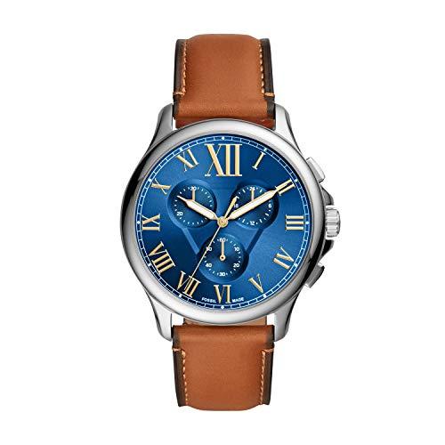 Fossil - Reloj de Cuarzo de Cuero para Hombre FS5640