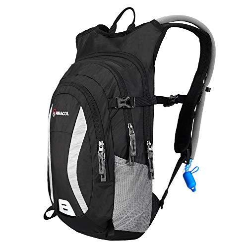 MIRACOL Hydration Backpack Packs with 2L BPA Free Water Bladder, Insulated Hydration Backpacks for Hiking, Cycling, Running, Climbing, Biking, Camping Gear