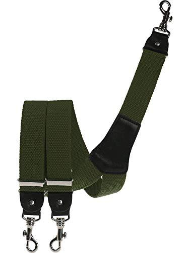 Harrys-Collection Herren extra starker Hosenträger mit Karabinerhaken, Größen:120 cm, Farben:oliv