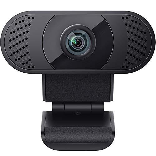 wansview Webcam 1080P mit Mikrofon, Webcam USB 2.0 Plug & Play für Laptop, Computer, PC, Desktop, mit automatischer Lichtkorrektur, für Live-Streaming, Videoanruf, Konferenz, Online-Unterricht, Spiel
