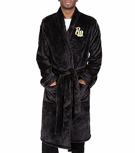 Rocawear - Men's Plush Fleece Robe Black