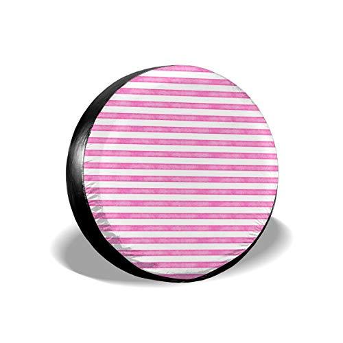 Sula-Lit Autoreifen und Radabdeckungen, Salz Aquarell, Streifen, Hot Pink, für Jeep Camper Wohnmobil SUV LKW Radschutz-Zubehör 35,6 cm (14 Zoll)