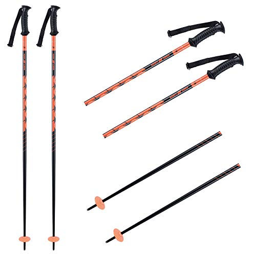 K2 Ski Herren Skistöcke Power Alu — Orange — Länge: 125Cm — 10E3003