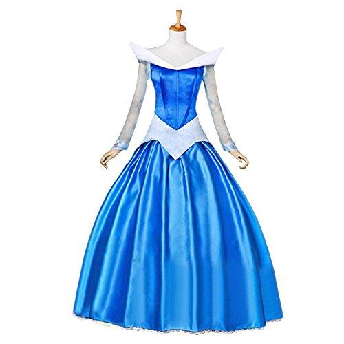 『Mity Land 高品質 ディズニー キャラクター コスプレ 衣装 セット (オーロラ姫 ブルー)』のトップ画像