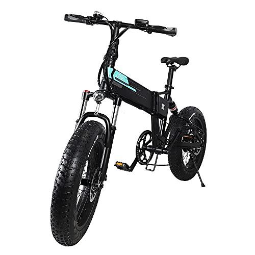 """Bicicleta de Montaña, Bicicleta Adulto, Bicicleta Montaña Mujer FIIDO M1 Pro, e Bike MTB, ebike montaña 20"""" Fat Bike con Motor de 500 W, batería de 48V 12,8Ah, Sistema de transmisión de 7 velocidades"""