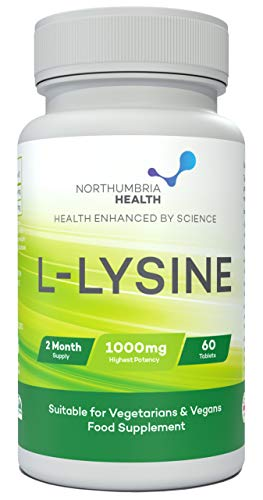 L-Lysine 1000mg | 60 Tablets (2 Month's Supply) | Vegetarian and Vegan L-Lysine 1000mg by Northumbria Health