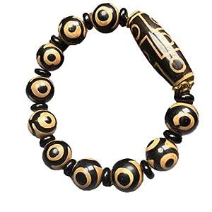 ZHIBO Armband, tibetisch, alter Achat, Dzi Perlen